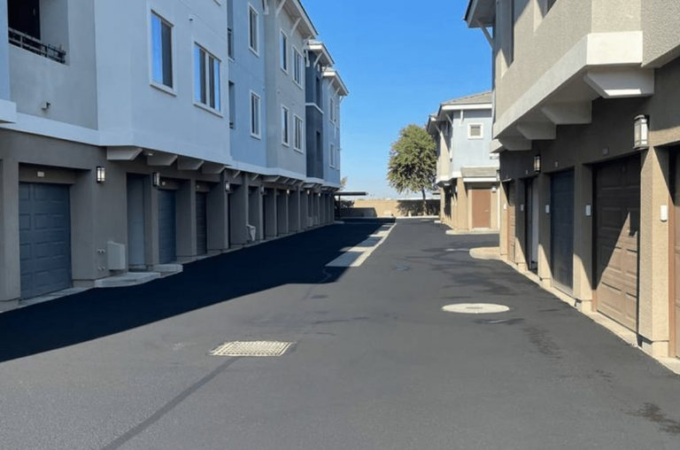 phoenix condo complex parking lot after sealcoating