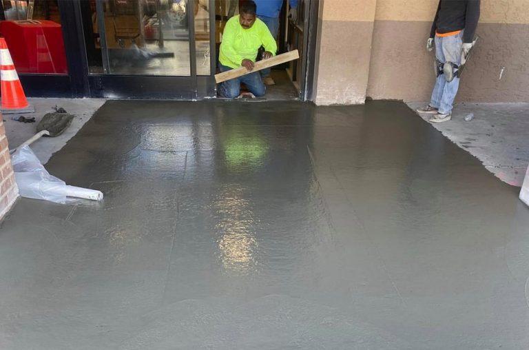 installation of new concrete retail entryway in phoenix az