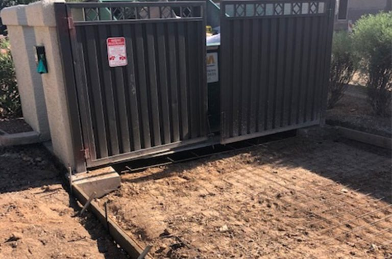 grading dumpster pad surface