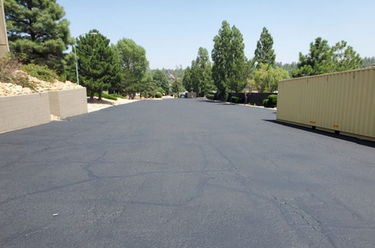 sealcoating project for country club vistas in flagstaff