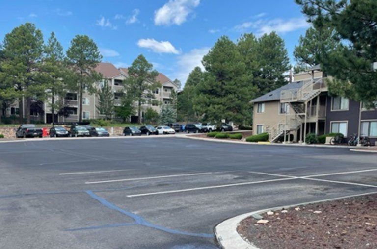 woodland village apartment before paving services
